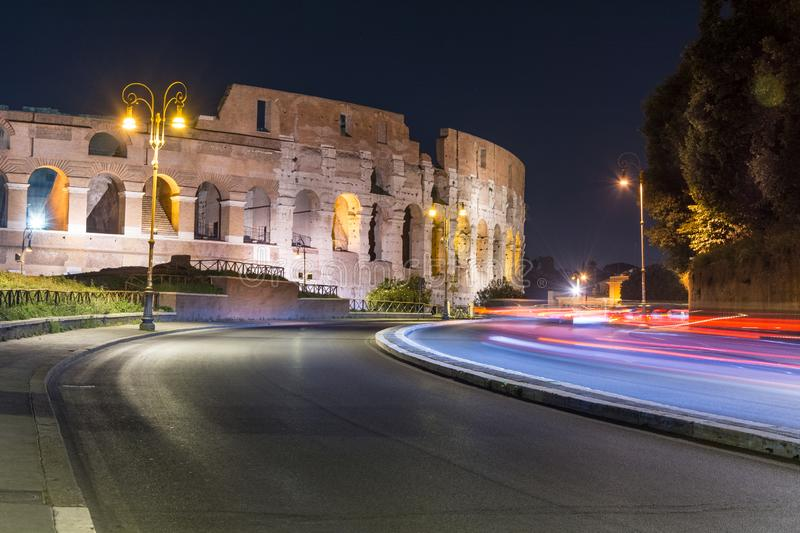 The Colosseum is the tourist center of Rome stock photo