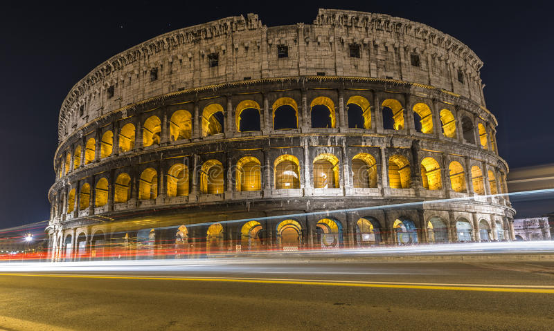 Download Colosseum with traffic editorial image. Image of colosseum - 37909415