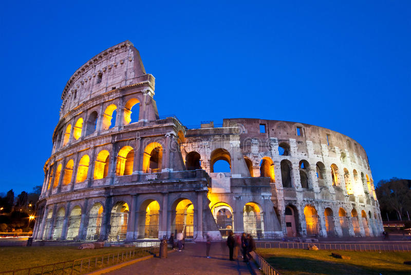 Download Colosseum at twilight stock image. Image of history, colorful - 25861615