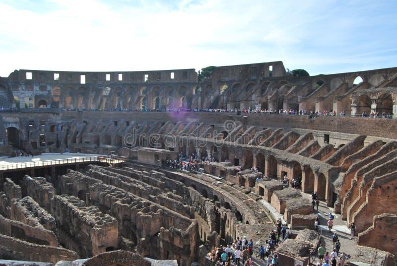 Colosseum van Rome in lazio in Italië royalty-vrije stock foto's