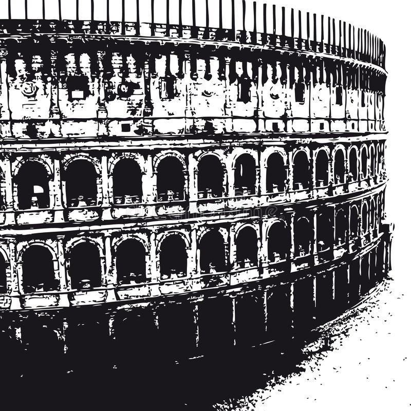 Colosseum (vector) royalty free illustration