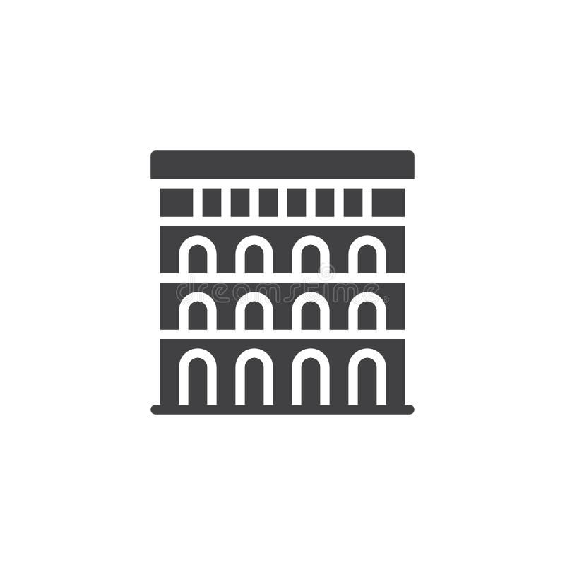 Colosseum vektorsymbol royaltyfri illustrationer