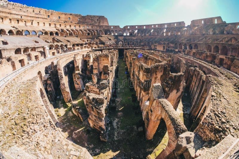 Colosseum w Rzym panoramy widoku fotografia royalty free