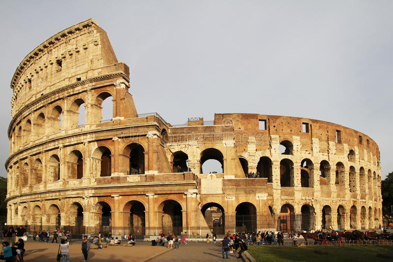 Colosseum zmierzch fotografia royalty free