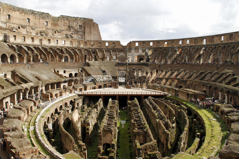 Colosseumbinnenland van Rome stock foto's