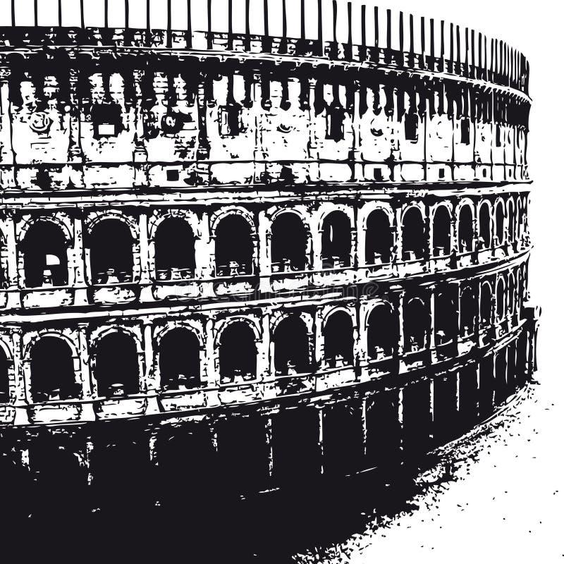 colosseumvektor royaltyfri illustrationer