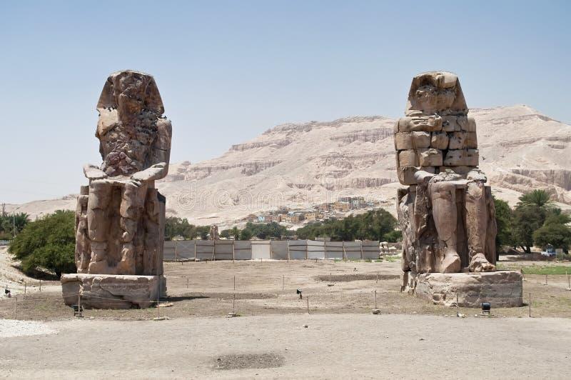 Colossi de Memnon foto de stock