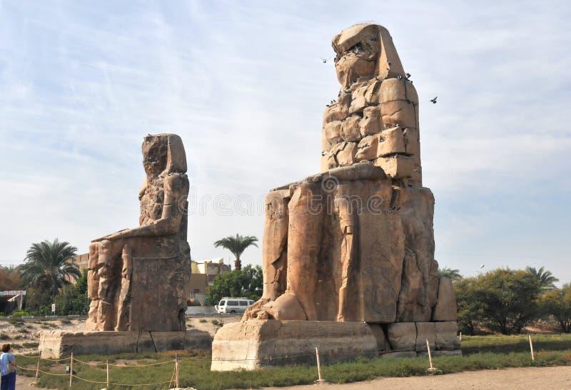 Colossi de Memnon fotografia de stock royalty free