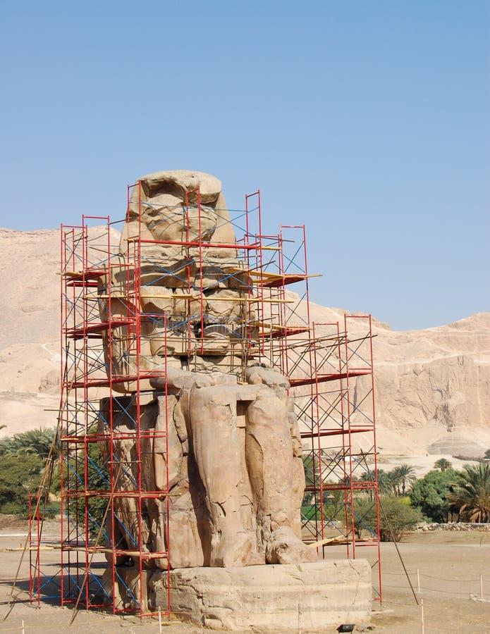 Colossi de Memnon imagem de stock