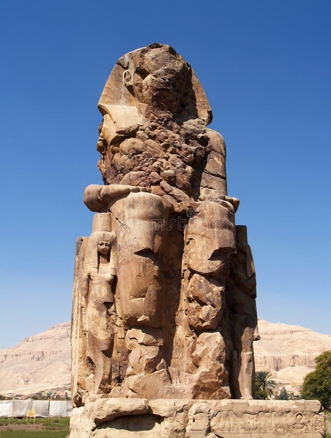 Colossi de Memnon fotografia de stock
