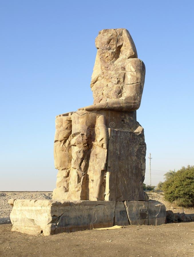 Colossi de Memnon em Egipto fotos de stock royalty free