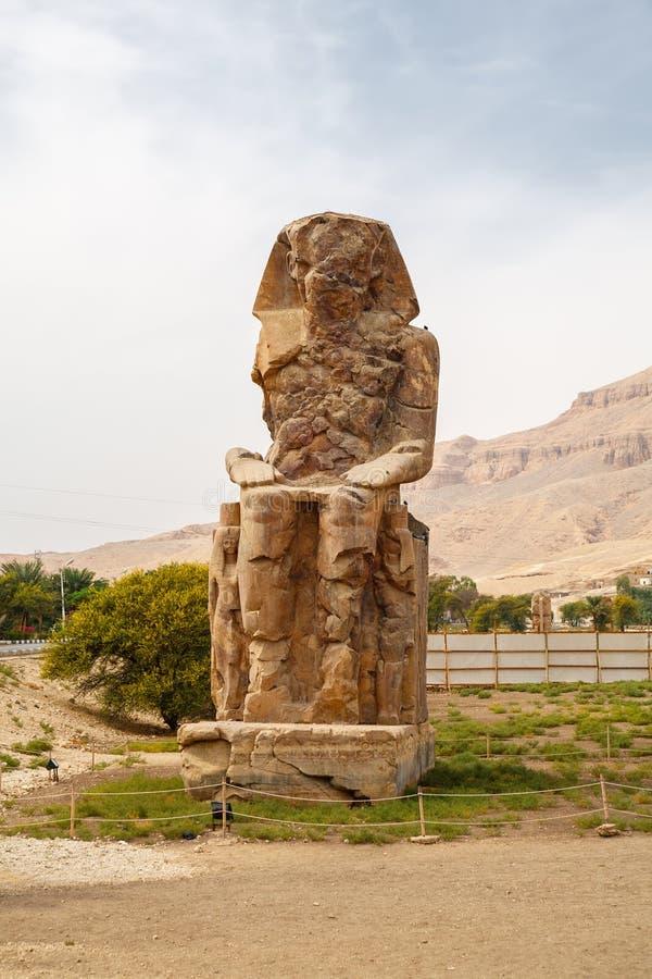 Colossi de Memnon. Luxor, Egipto imagens de stock