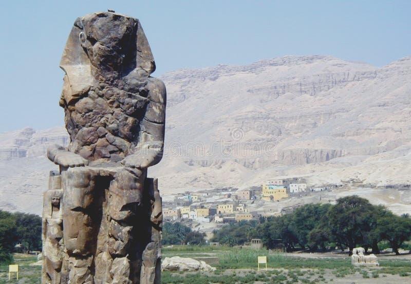 Colossi di Memnon Egitto fotografia stock