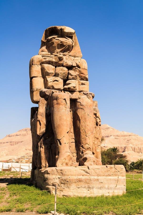 Colossi direitos de Memnon imagens de stock royalty free