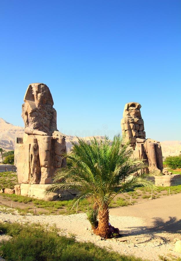 Colossi do memnon em Luxor Egipto fotos de stock