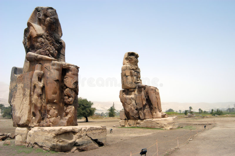 Colossi of Memnom royalty free stock photos