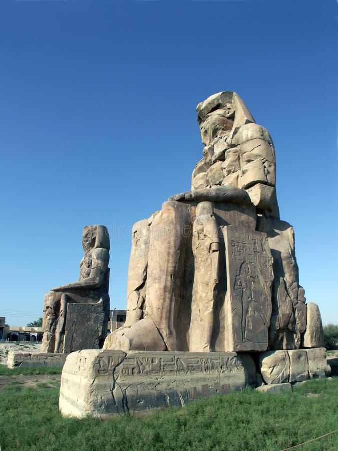 Download Colossi of Memnon stock image. Image of statue, hill, ruins - 1367379