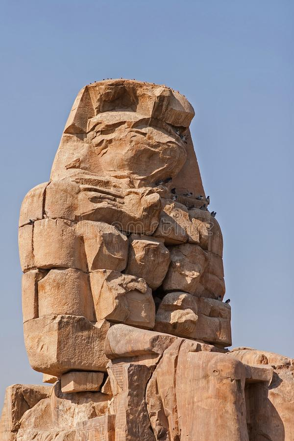 Colossi of Memnon, Luxor, Thebes Egypt stock images
