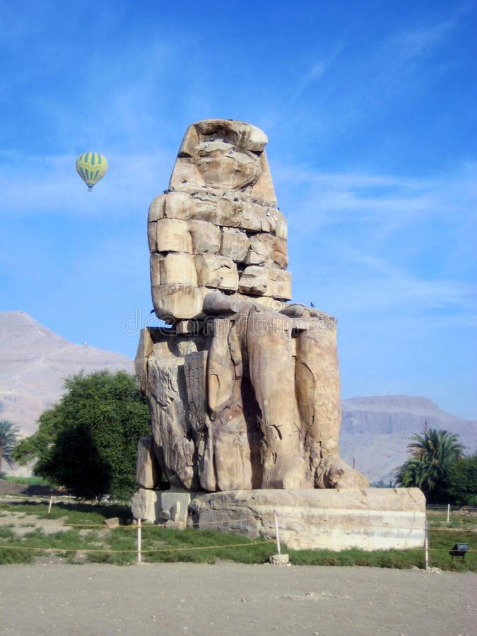 Colossi of Memnon, Valley of the Kings. Luxor, Egypt, sunny day stock photos