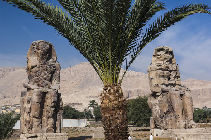 Colossi Memnon w Luxor zdjęcie royalty free