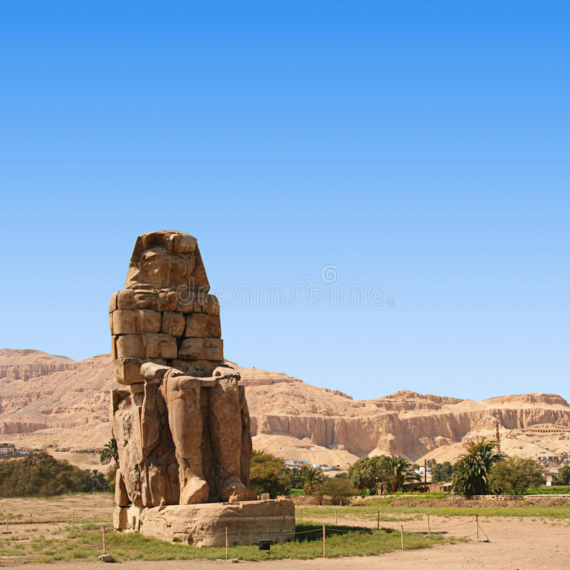 Colossina av Memnon royaltyfri foto