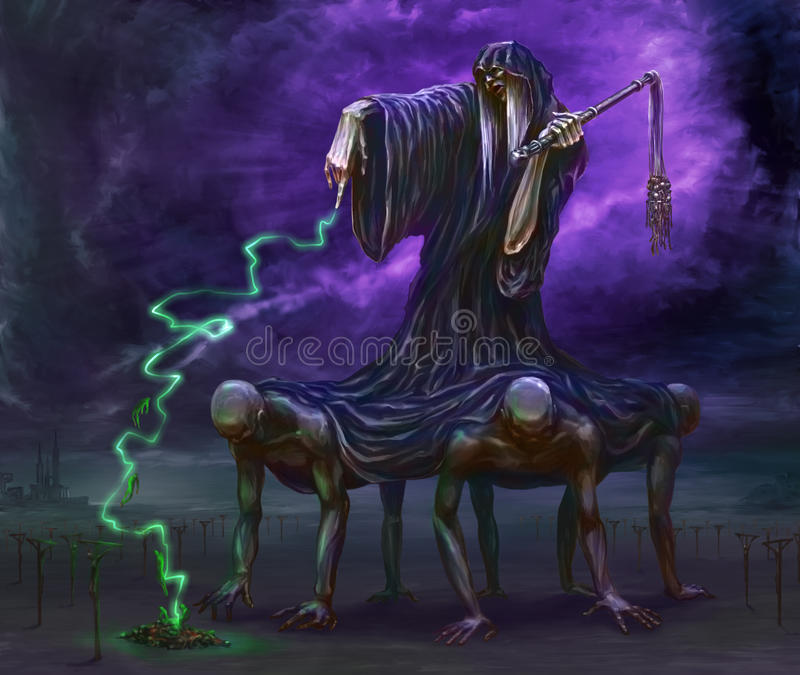 Colosso da morte ilustração royalty free