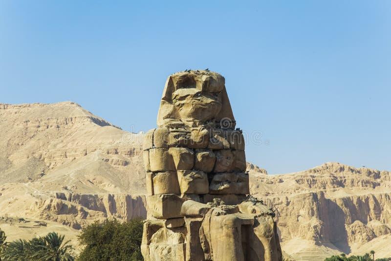 Colossos antigos de Memnon em Luxor, Egito foto de stock royalty free