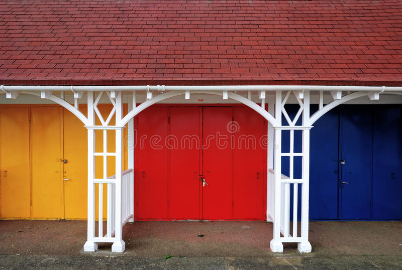 Download Colouful Beach Huts stock image. Image of yellow, bright - 26426117