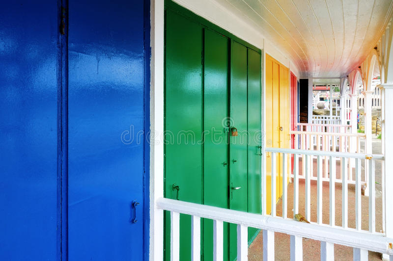 Download Colouful Beach Huts stock image. Image of english, summer - 26427821