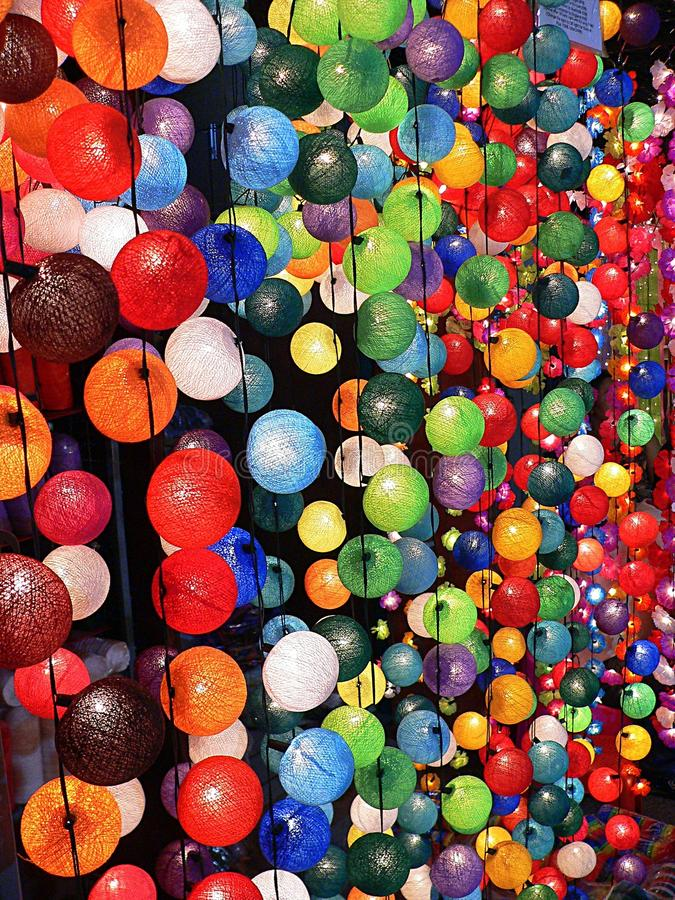 Download Colouful Decorative Lights stock photo. Image of green - 10956666