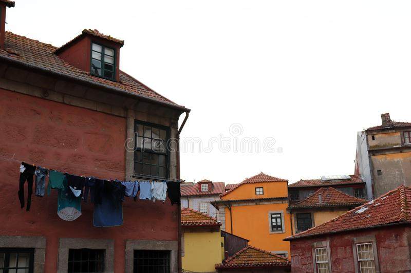 Coloufulhuizen in Porto, Portugal stock afbeelding