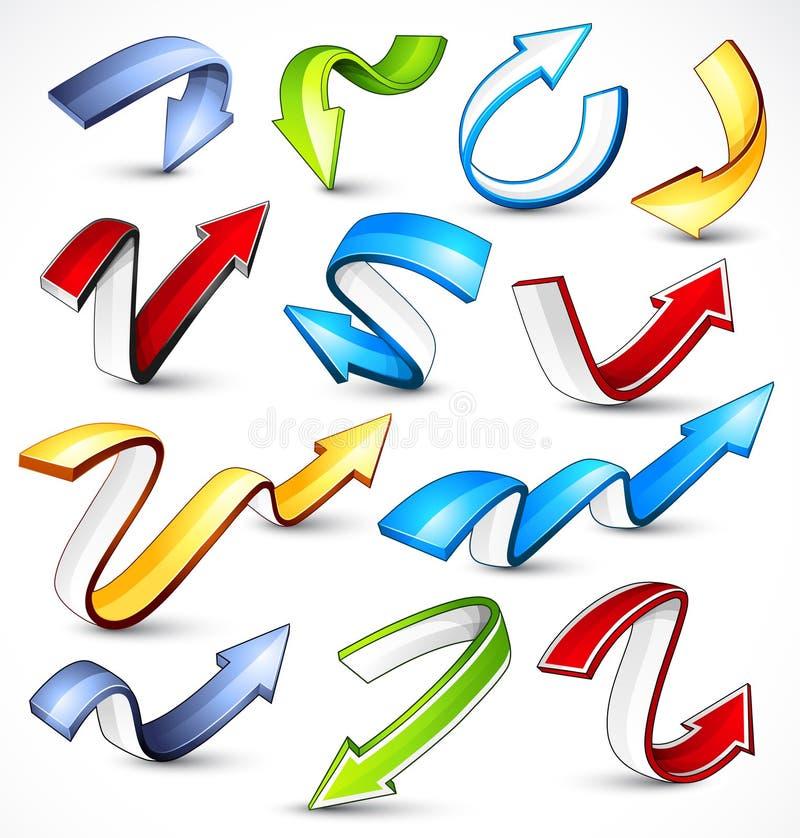 Colour Arrows Stock Images
