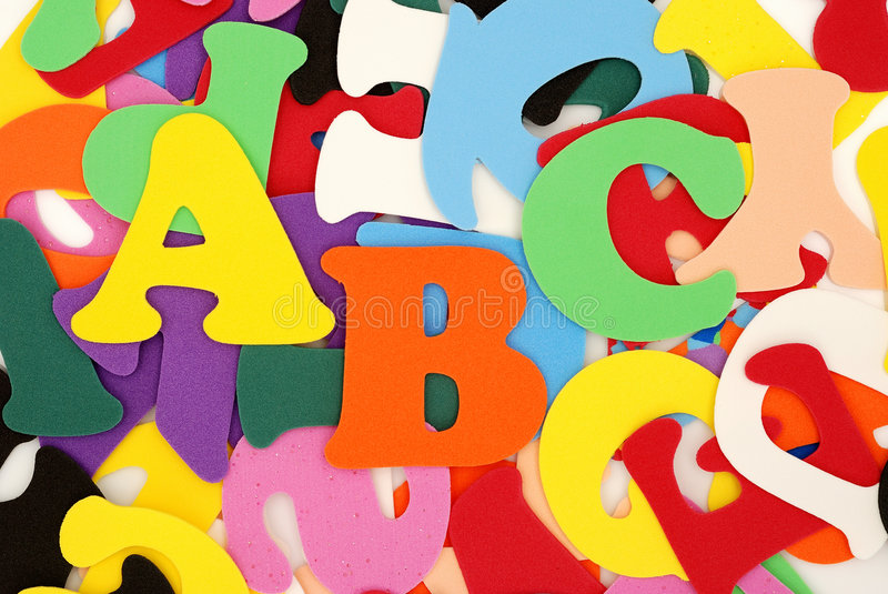 Colour A, B, C royalty free stock images
