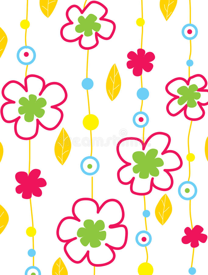 Free Colour Background With Flowers Royalty Free Stock Images - 9609599