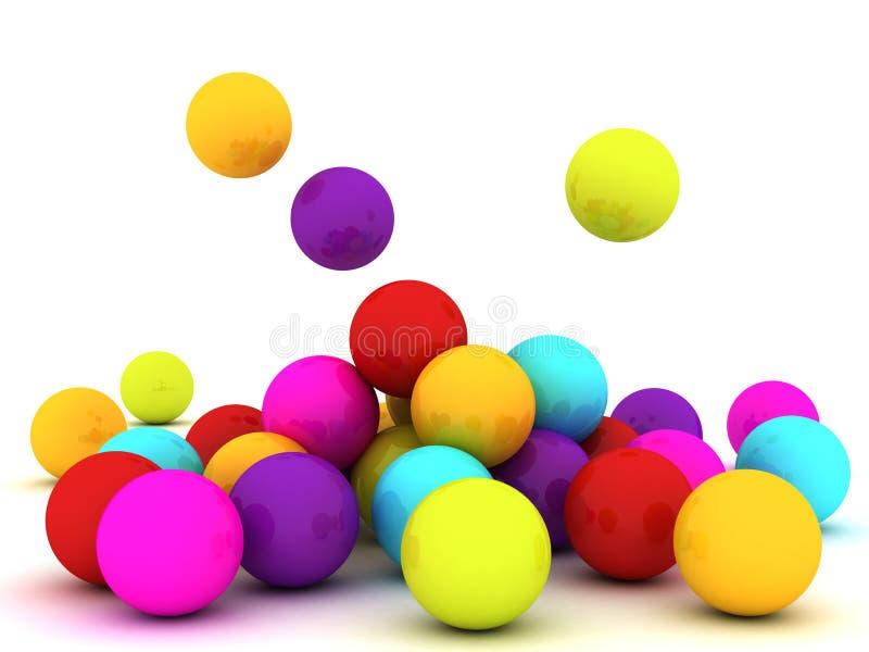 Colour Balls royalty free stock image
