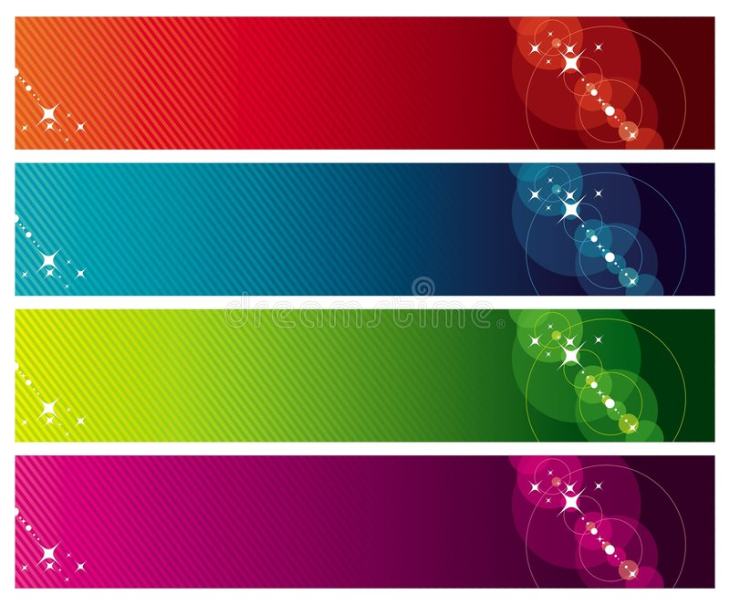 Colour banners stock illustration