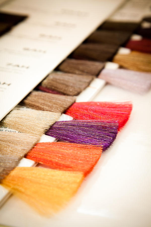 colour barwidła włosy swatch zdjęcie royalty free
