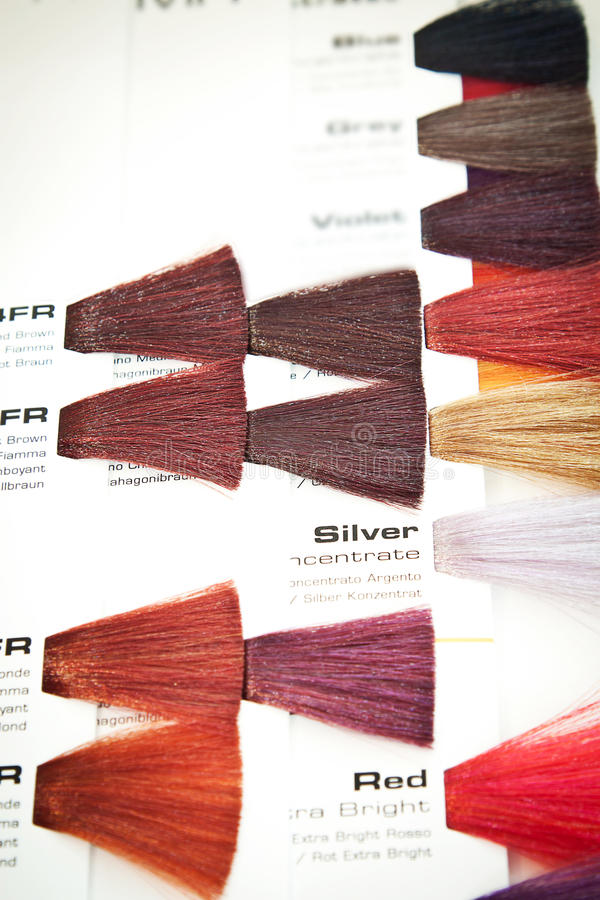 colour barwidła włosy swatch fotografia royalty free