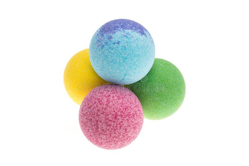 Colour bath bombs royalty free stock photography