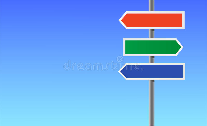 Download Colour Blank Directional Sign. Stock Vector - Image: 15079136