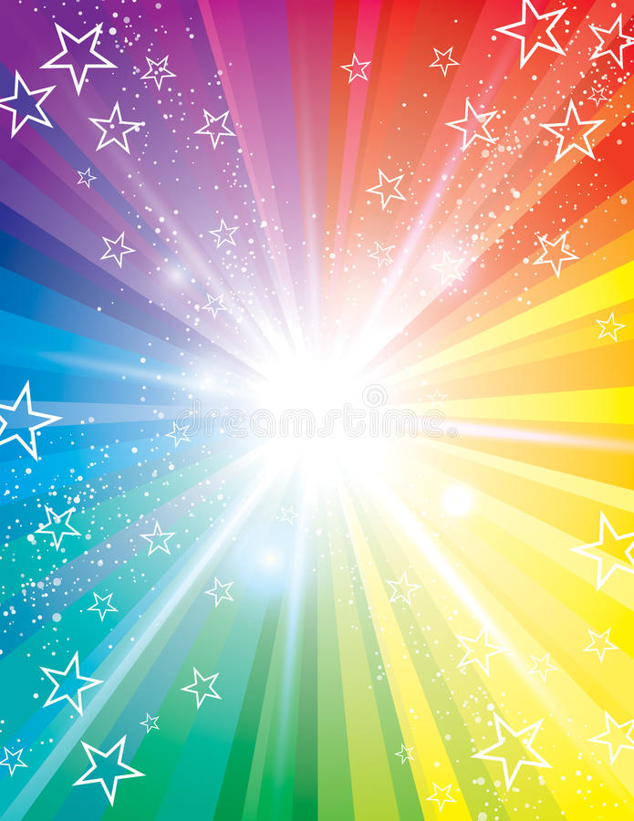 Colour Blast Background royalty free illustration