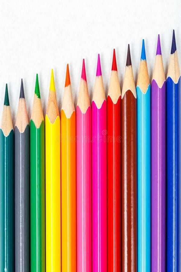 Colour blyertspennor arkivbilder