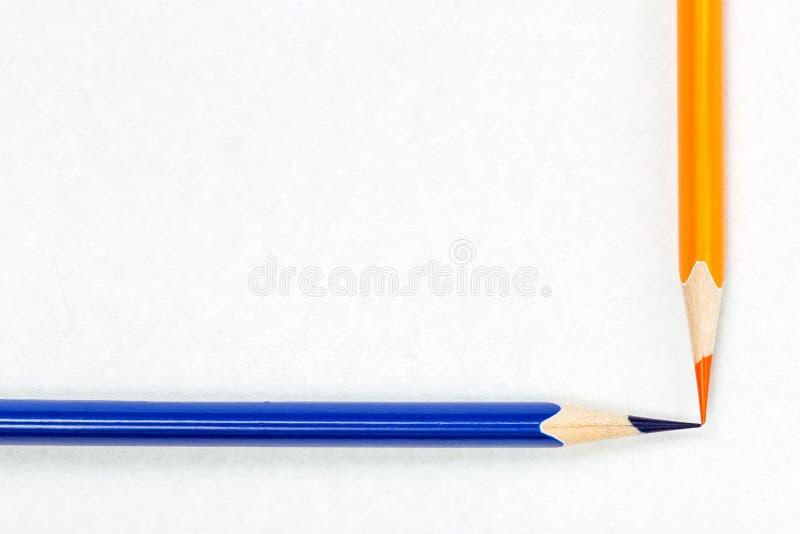 Colour blyertspennor royaltyfri fotografi