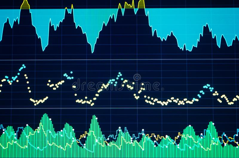 Colour business finance chart, diagram, bar, graphs. Financial graphs and charts for analyzing data royalty free stock photo
