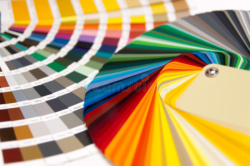 Colour card RAL stock photos