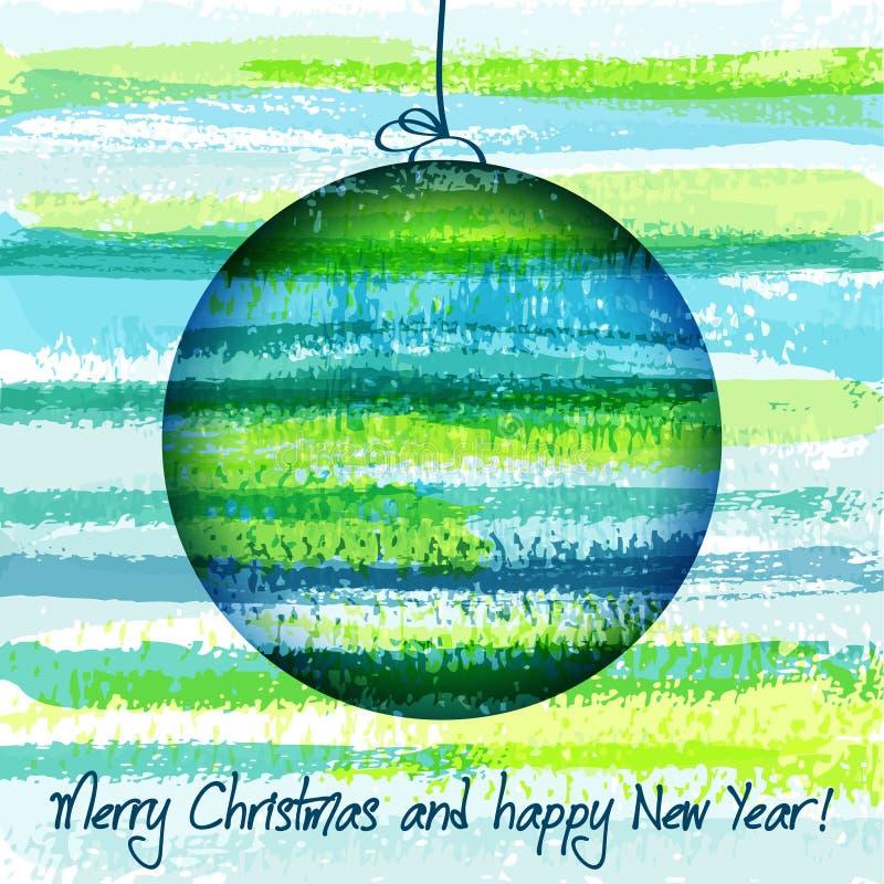 Colour Christmas ball stock illustration