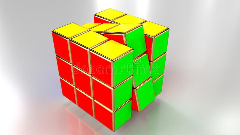 Colour Cube render. Кубики рендер. Colour Cube render royalty free stock photo
