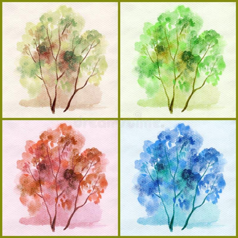 colour drzew woda ilustracja wektor