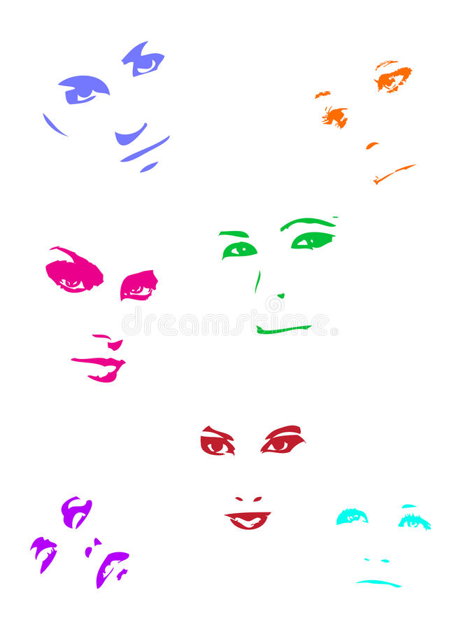 Download Colour Faces Stock Photography - Image: 11253182