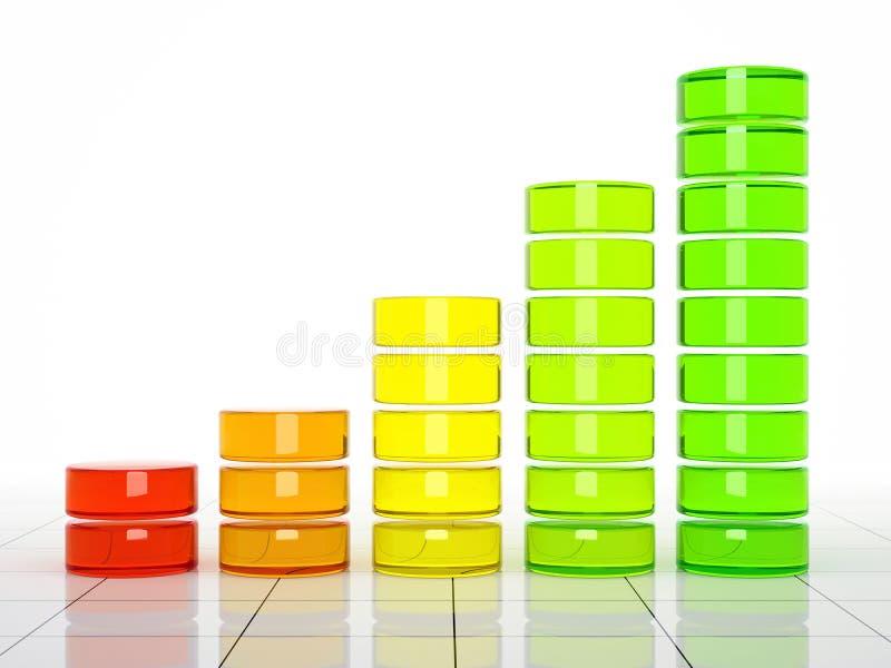 Colour Graph Royalty Free Stock Photos